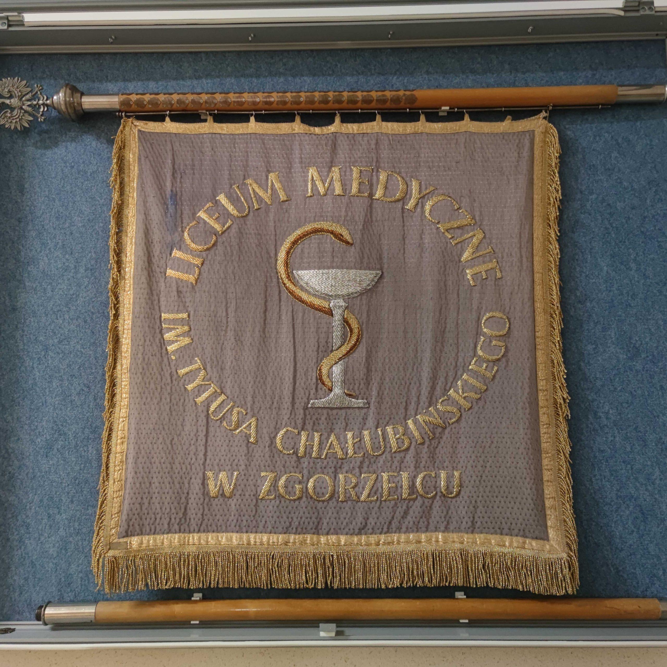 Sztandar Liceum Medycznego